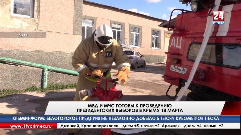 МВД и МЧС готовы к проведению президентских выборов в Крыму 18 марта