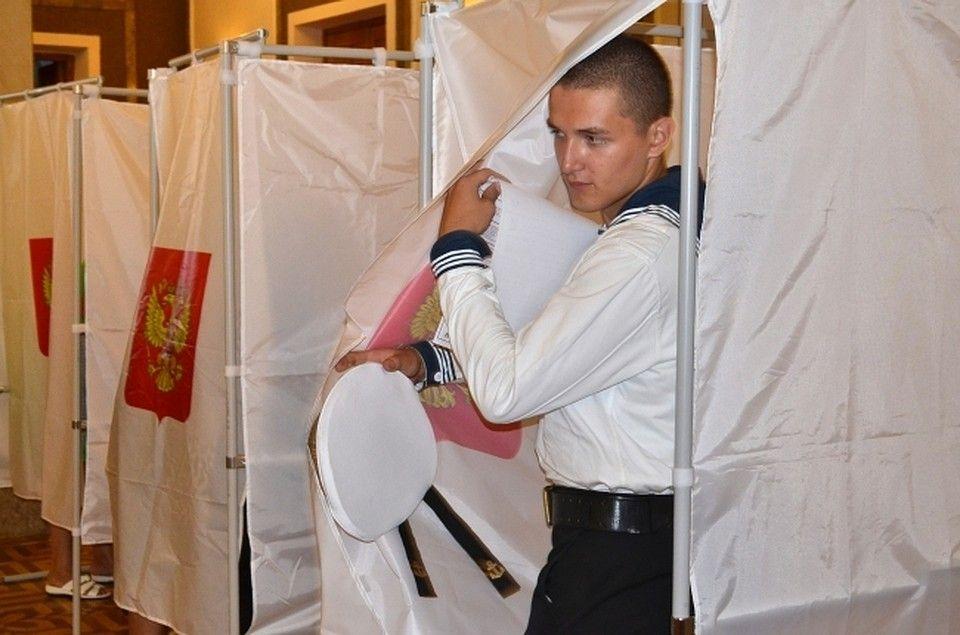 Моряки Черноморского флота заранее проголосовали на президентских выборах