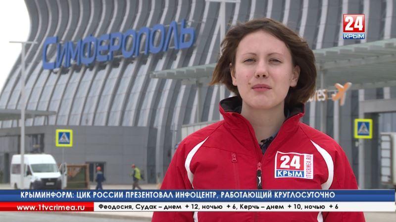 Самый большой в России избирательный участок. Строители аэропорта «Симферополь» голосуют прямо на рабочем месте