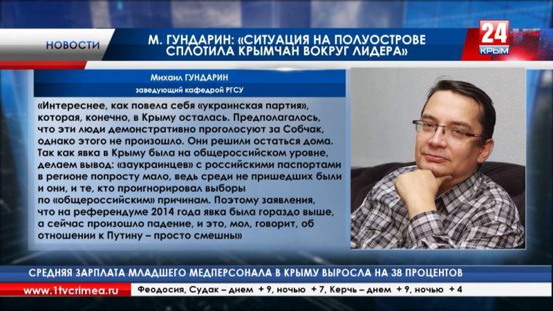 Российские эксперты объяснили, почему большинство крымчан отдали свои голоса за Владимира Путина