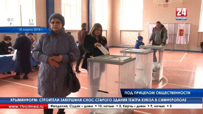 На выборах Президента Российской Федерации в Крыму работали 3620 общественных наблюдателей