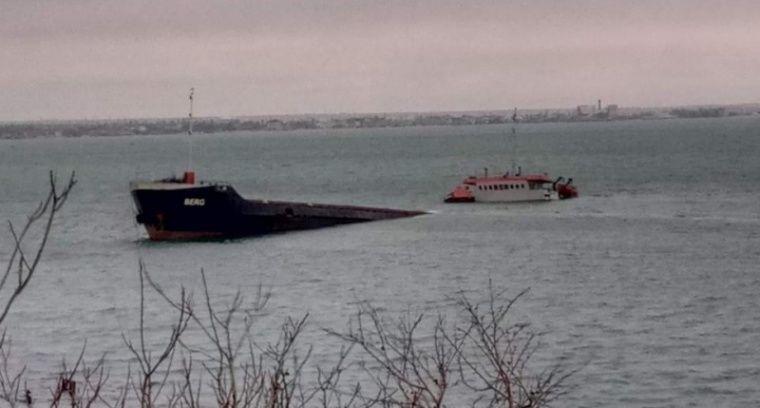 У Феодосии почти затонул турецкий сухогруз «Берг»
