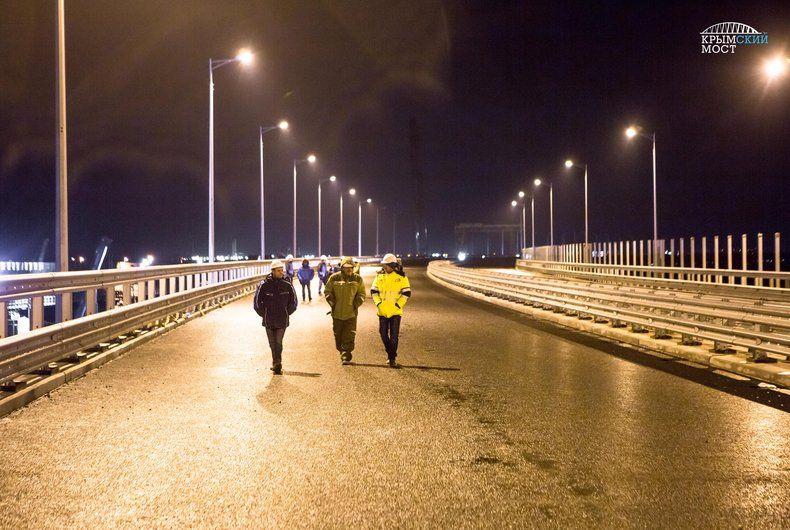 На Крымском мосту зажги фонари
