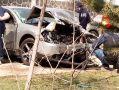 В Балаклаве столкнулись три легковушки, автомобили - всмятку