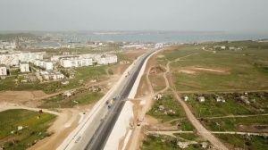 Автоподход к мосту в Крым показали с высоты