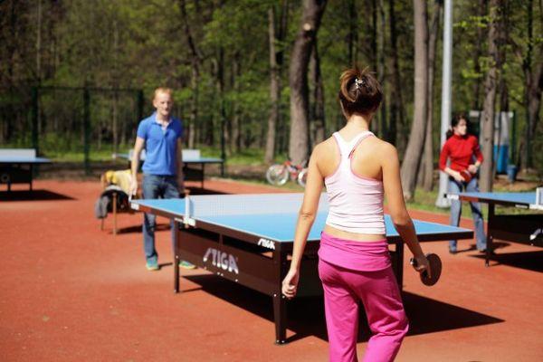 В Гагаринском парке Симферополя можно будет бесплатно играть в настольный теннис и заниматься йогой