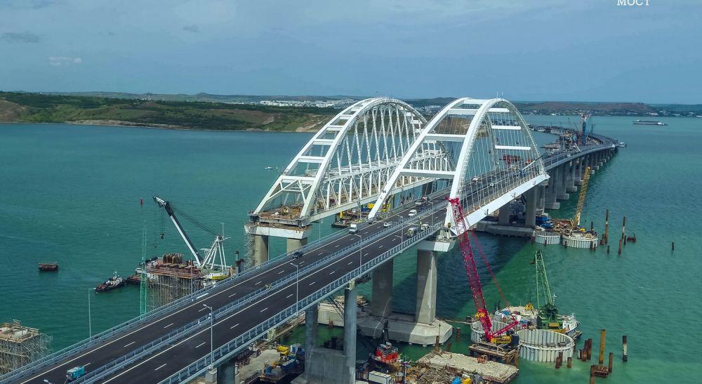 27 месяцев строительства Крымского моста за 3 минуты