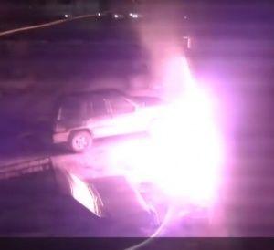 Появилось видео попытки поджога дома муфтия Крыма