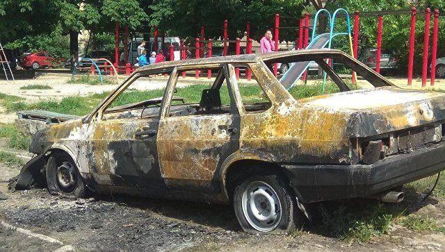 На выходных в Симферополе горели машины