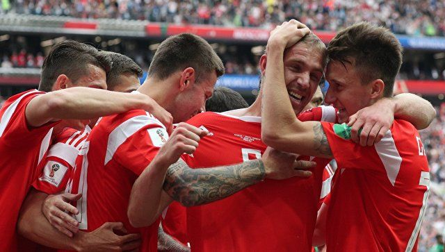 Сборная России забила первый гол на ЧМ-2018
