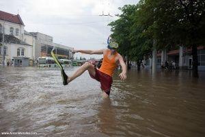 Ливень затопил улицы Ялты