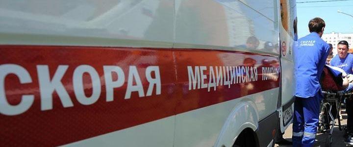 В Симферопольском районе кроссовер сбил мотоциклиста