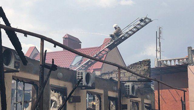 Пожар в пансионате в Евпатории: огонь потушен, пострадали пять человек
