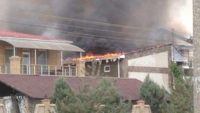 Среди пострадавших на пожаре в пансионате Евпатории есть ребенок