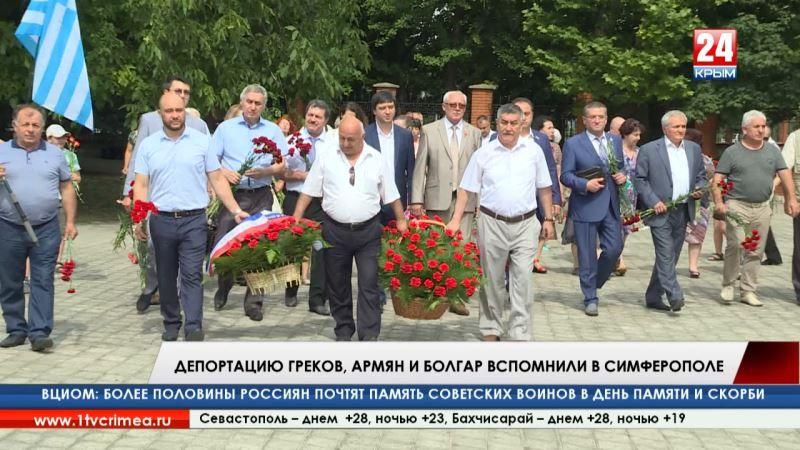 Умирали в пути, жили в бараках: депортацию греков, армян и болгар вспомнили в Симферополе