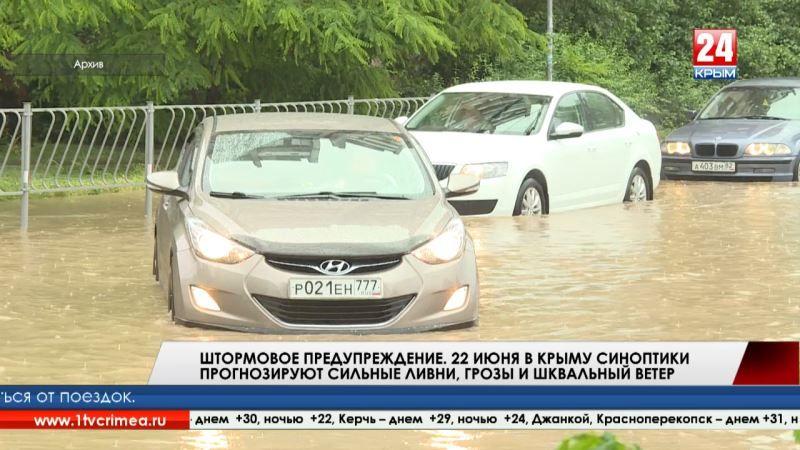 Штормовое предупреждение. 22 июня в Крыму синоптики прогнозируют сильные ливни, грозы и шквальный ветер