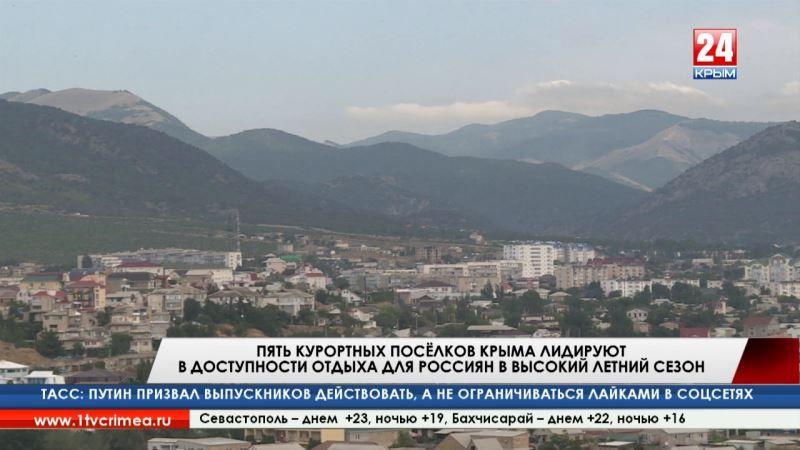Пять курортных посёлков Крыма лидируют в доступности отдыха для россиян в высокий летний сезон