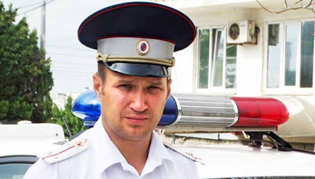 За секунду до трагедии: в Крыму полицейский предотвратил ДТП с автобусом
