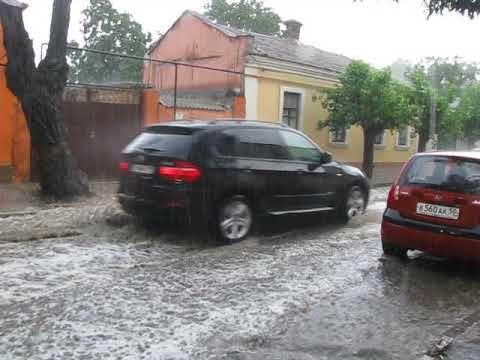 Феодосию накрыло ливневым дождем