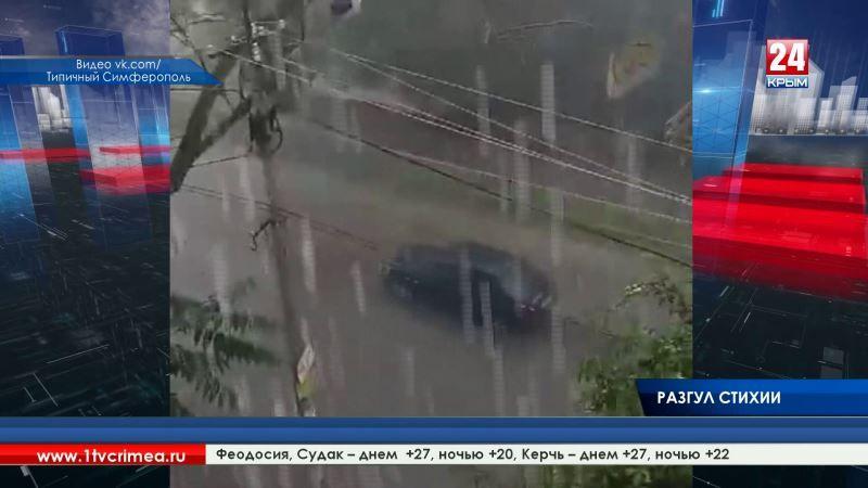 Реки потекли не только по улицам, но и внутри домов. Из-за сильного дождя многие районы Крыма затопило