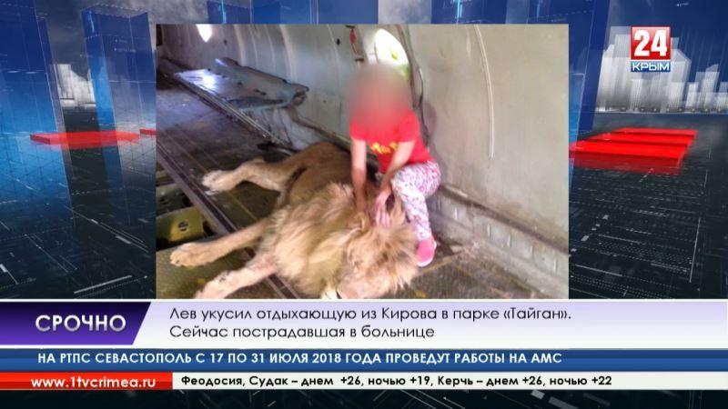 Лев укусил туристку в сафари-парке «Тайган» Олега Зубкова
