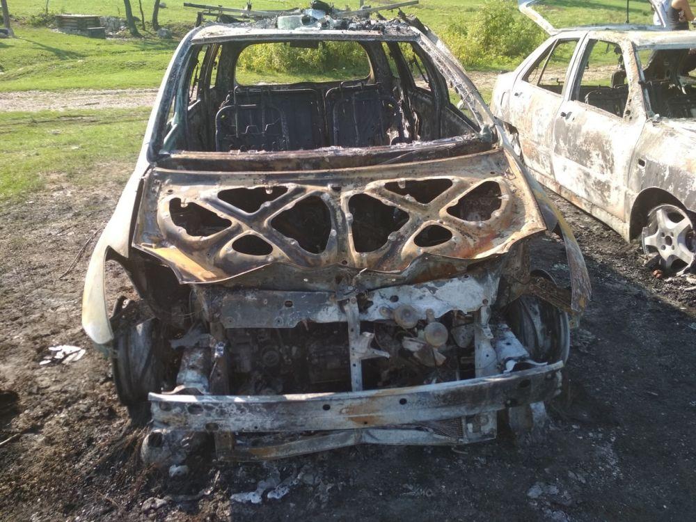 Под Севастополем неизвестные напали на детский палаточный лагерь: сожгли автомобили и жестоко расправились с собакой , ВИДЕО
