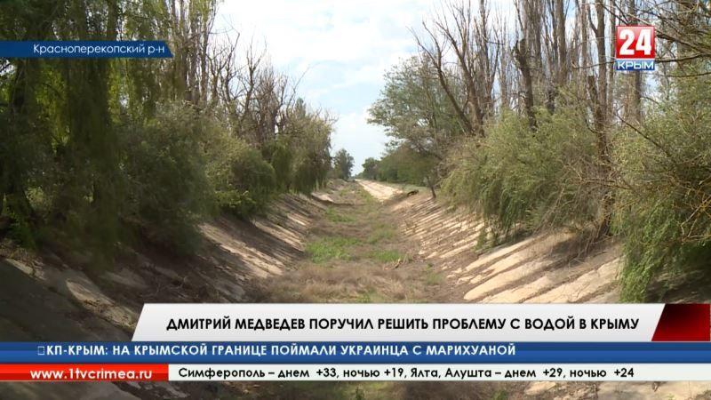 К решению проблемы водообеспечения Крыма подключился Дмитрий Медведев. По поручению премьер-министра страны создадут специальную рабочую группу