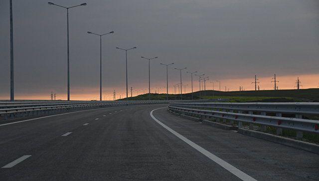 На дороге к Крымскому мосту со стороны Тамани ночью на час ограничат движение