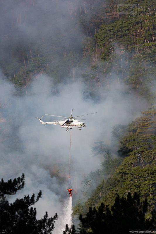 Природной пожар в районе Ялты ликвидирован, - МЧС