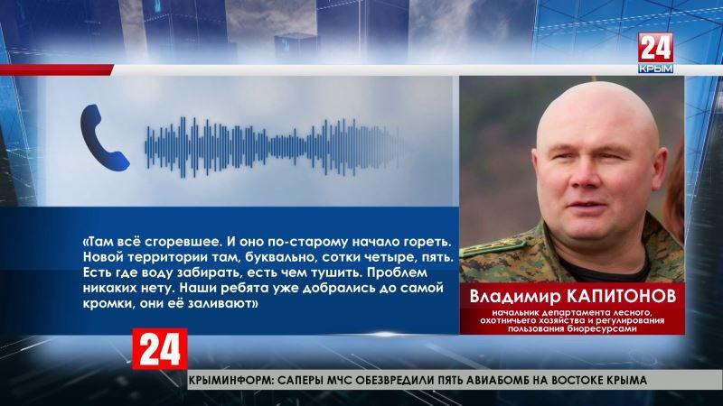 В Ялтинском лесном заповеднике угрозы распространения огня нет