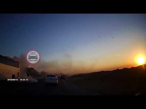 На трассе «Керчь — Симферополь» загорелся автобус