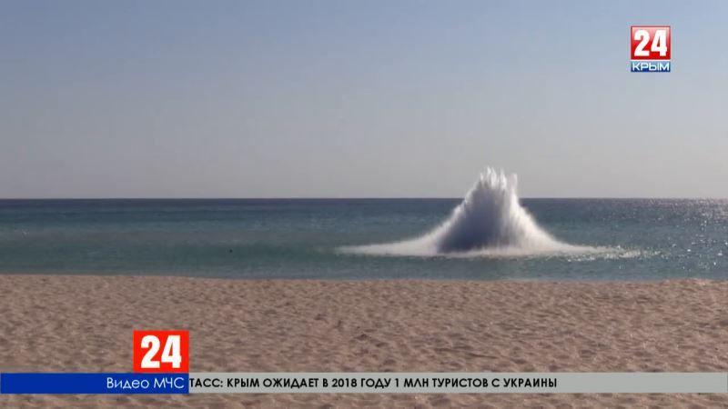 В Поповке спасатели успешно ликвидировали авиационную донную мину
