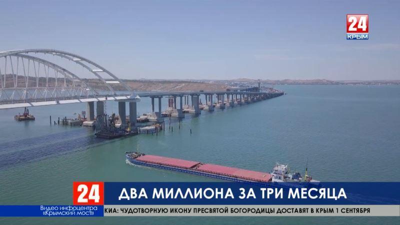 Два миллиона автомобилей проехали по Крымскому мосту с момента открытия