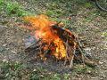 В Ялте на месте недавнего пожара в ущелье Уч-Кош был потушен костер, который развел турист