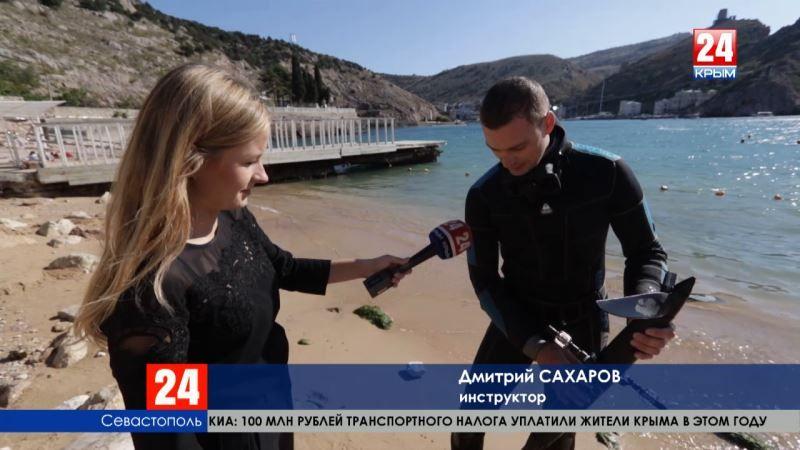 Ехать или плавать? В Севастополе испытали новое средство передвижения - подводный велосипед