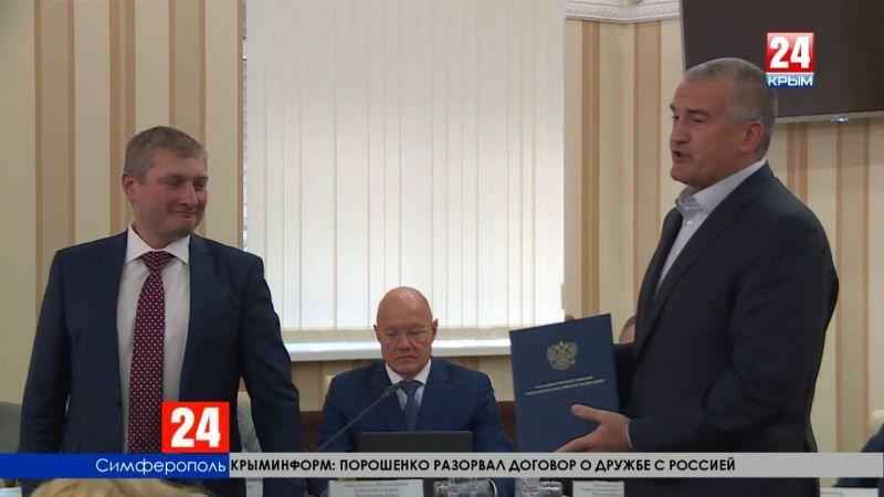 Сергей Аксёнов получил благодарственное письмо от Президента России за активное участие в работе по подготовке и проведению выборов