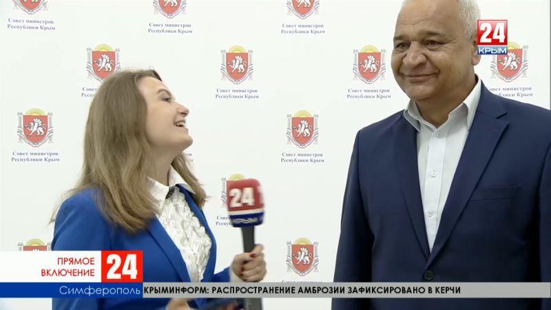 В прямом эфире телеканала «Крым 24» - интервью с министром жилищно-коммунального хозяйства Республики Виталием Глотовым