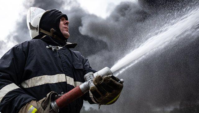 В Красногвардейском районе ночью горело общежитие