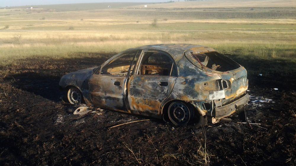 Сотрудники ГКУ РК «Пожарная охрана Республики Крым» ликвидировали возгорание автомобиля в Симферопольском районе