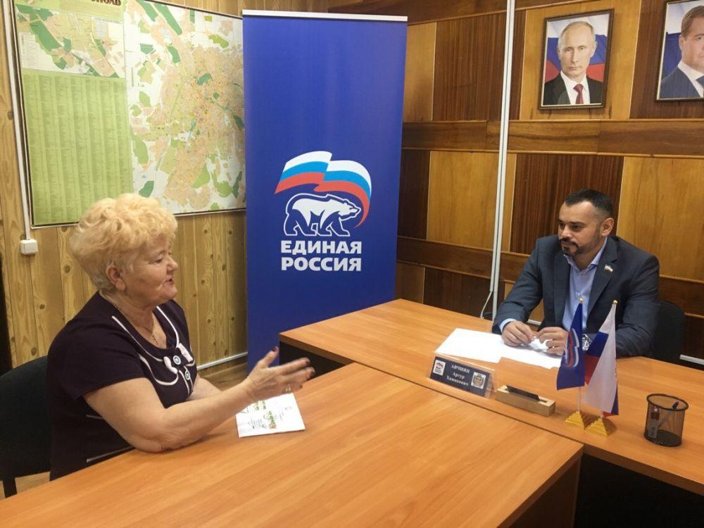 Депутат горсовета провел прием граждан