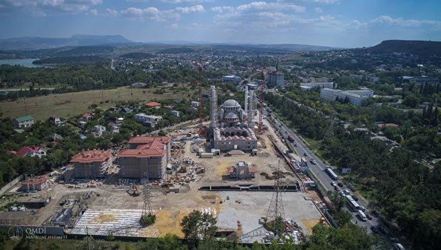 Главный мусульманский храм Крыма: Соборная мечеть с высоты птичьего полета