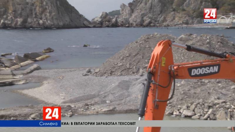 Реконструкция набережной и берегоукрепительные работы стартовали в Симеизе