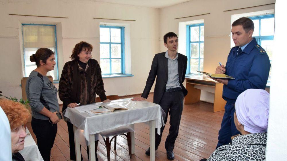 Очередной выездной прием граждан прошел в селах Марьяновского сельского совета