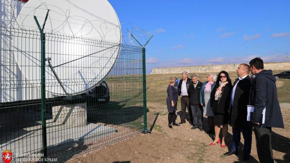 В селе Пожарское Симферопольского района установили радиотелевизионный передающий центр