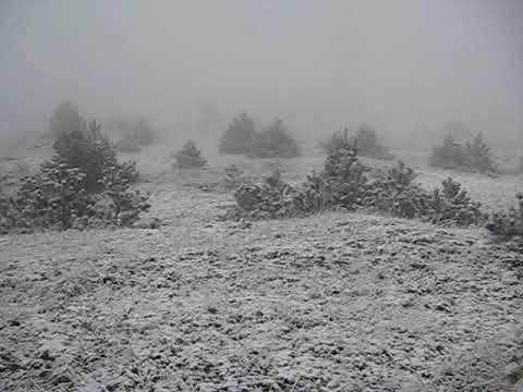 В Феодосии выпал первый снег