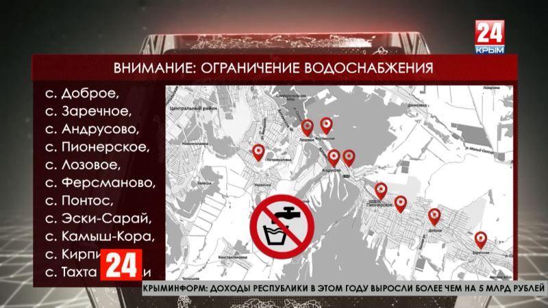 Около 5 тысяч крымчан остались без воды из-за аварии на водоводе Симферополя