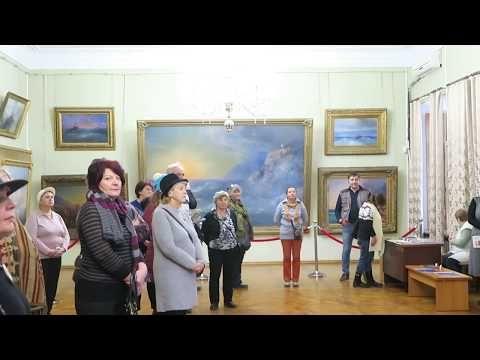 В феодосийской картинной галерее Айвазовского торжественно открыли выставку Юнге