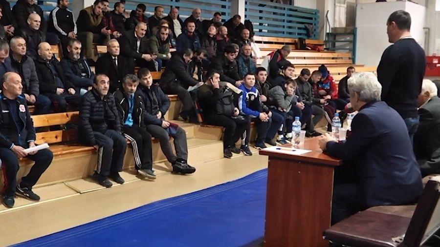 Видеосюжет об отчетной конференция Федерации спортивной борьбы Республики Крым