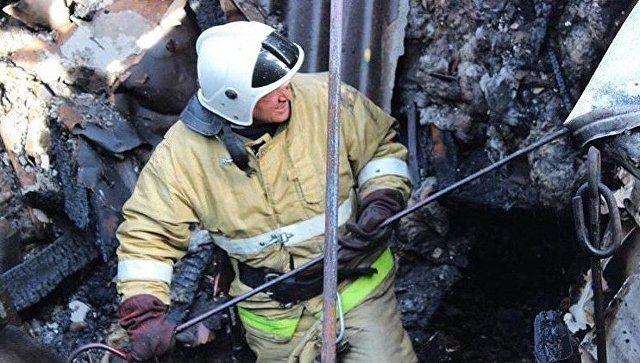 В Ялте на пожаре в жилом доме спасли женщину