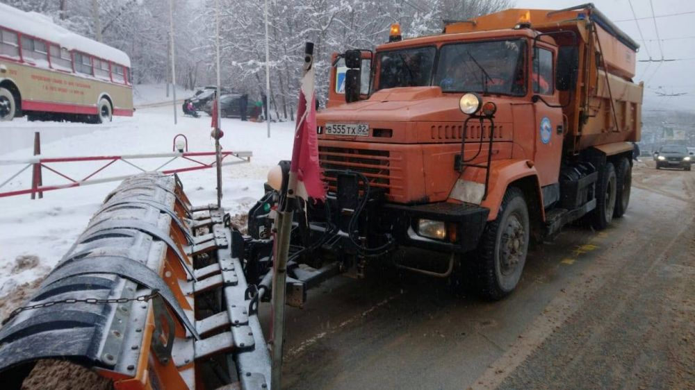 За прошедшую неделю Крымавтодор очистил 19000 км дорог